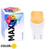 Светодиодная авто лампа W5W T10 – Max-Ceramic A 2Led 3Вт Жёлтая