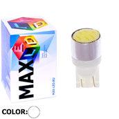 Светодиодная авто лампа W5W T10 – Max-COB 1Led 2Вт Белая