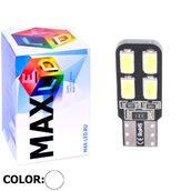 Светодиодная авто лампа W5W T10 – Max-Road 8Led 3Вт Белая
