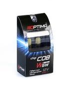 Светодиодная авто лампа W5W T10 – Optima Premium COB 3W 5100K Белая