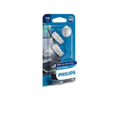 Светодиодная авто лампа W5W T10 – Philips X-treme Vision LED 4500K Белая